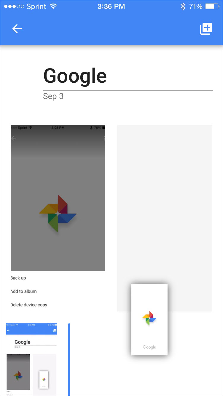 Google Photos Rearrange