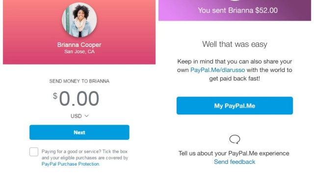 PayPal.me offers you an easier way to send and receive money