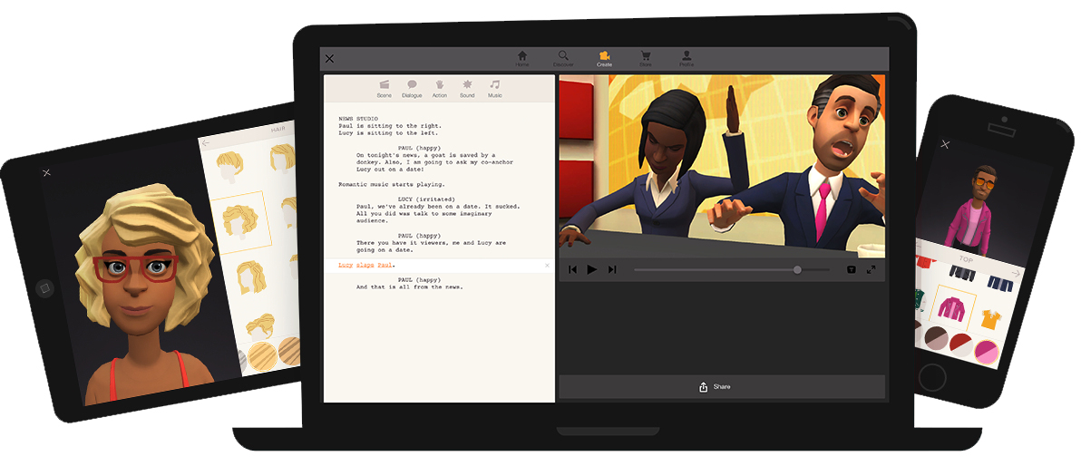 Bring your stories to life with animations in Plotagon