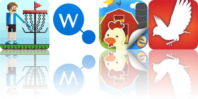 Today's apps gone free: Pixel Disc Golf, WikiLinks, Lily's Farm Animal Stickers and more