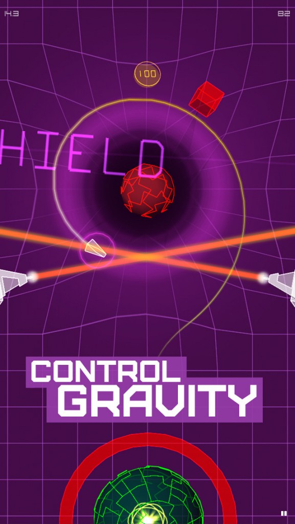 Bend gravity to reach the goal in AGRAV: Inertial Orbit