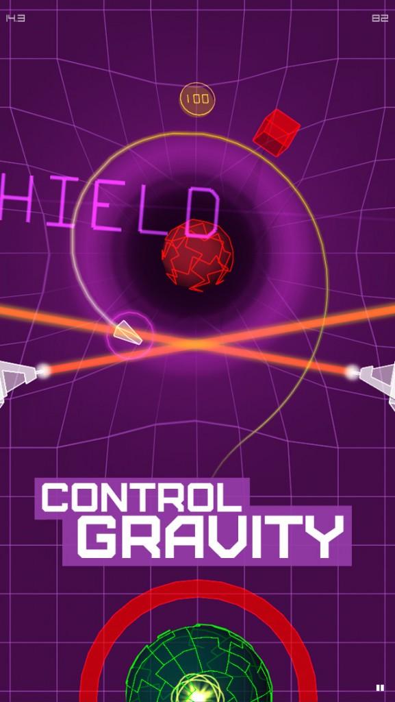 Bend gravity to reach the goal in AGRAV: Inertial Orbit