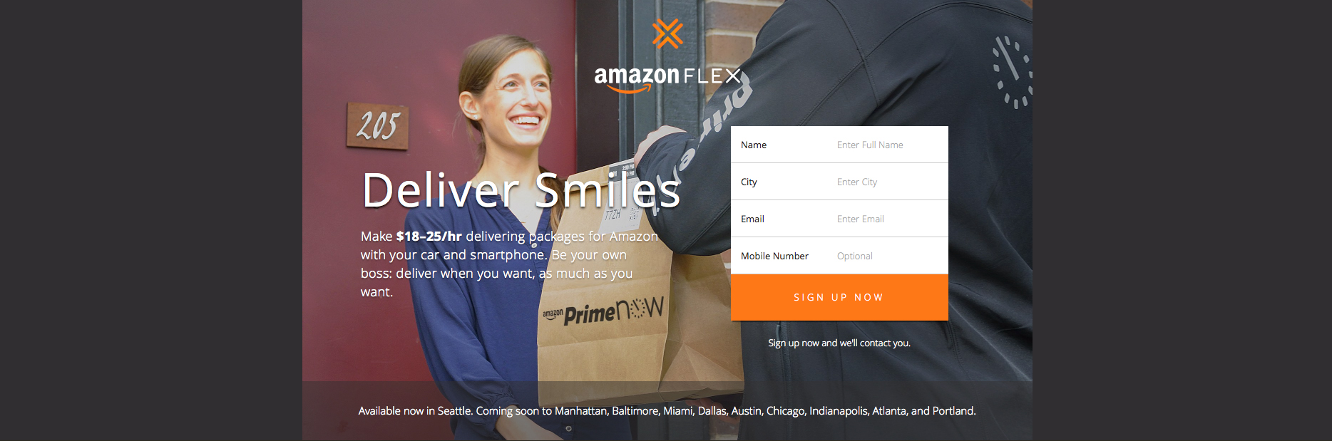 With its new Flex service, Amazon will pay you to deliver packages