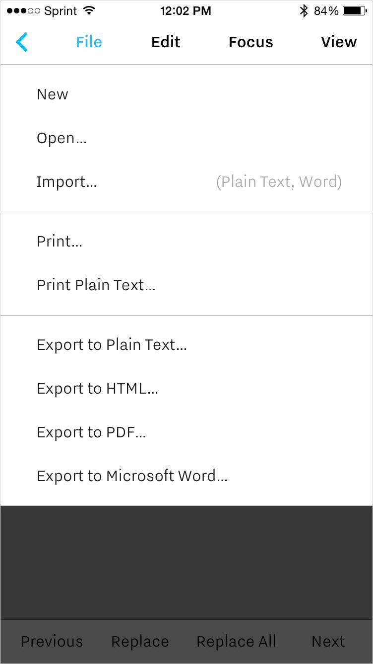 iA Writer export