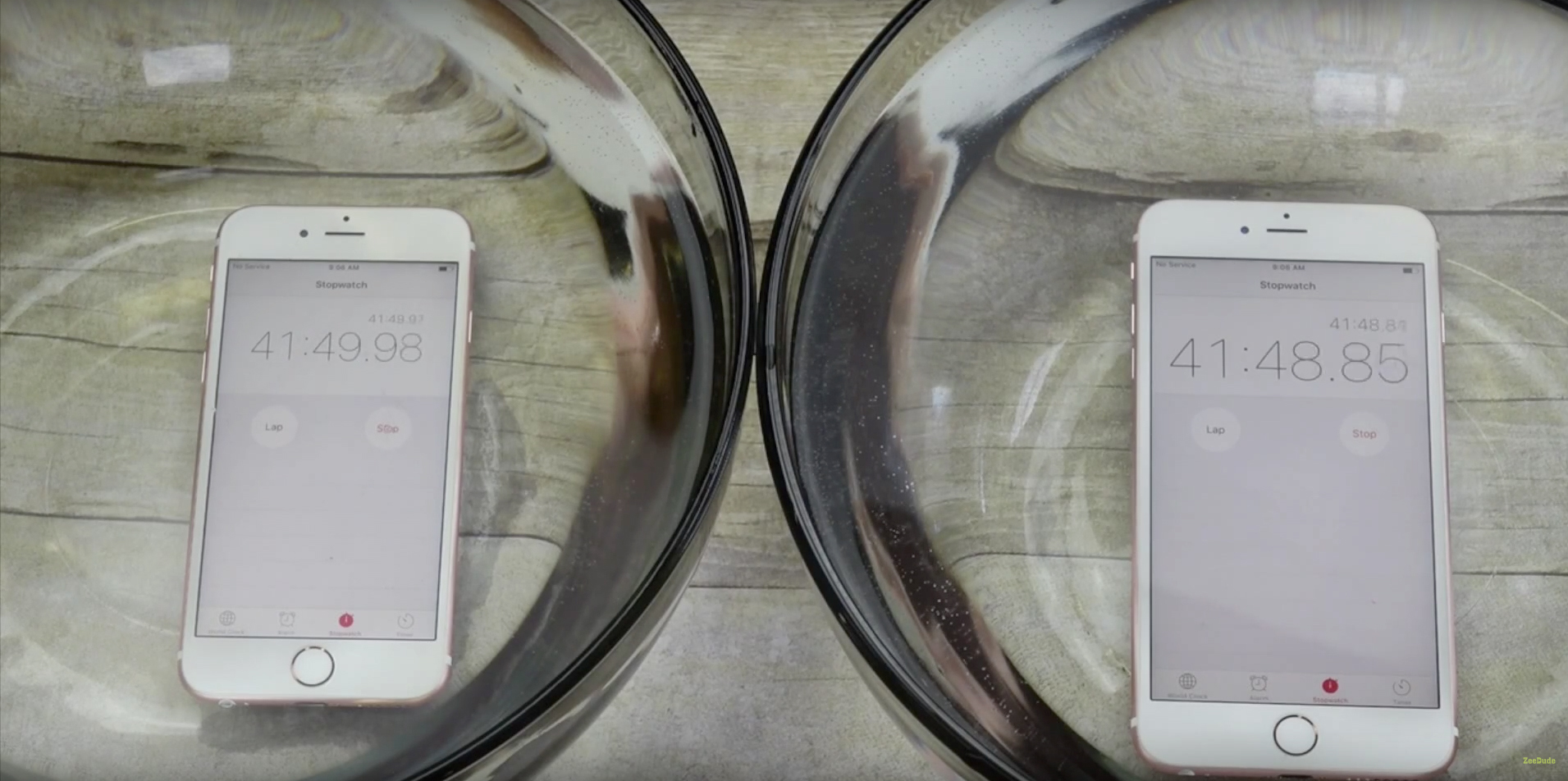 The iPhone 6s and iPhone 6s Plus are far from waterproof