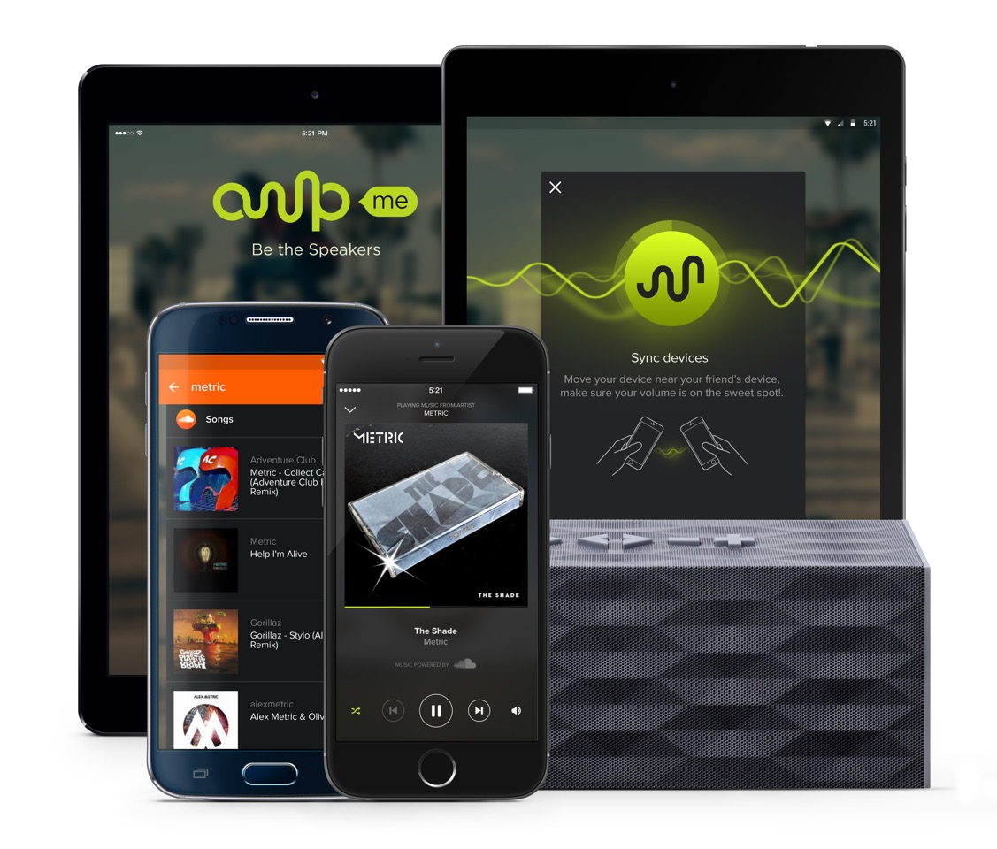 Amplify and sync your party music with AmpMe for iOS and Android