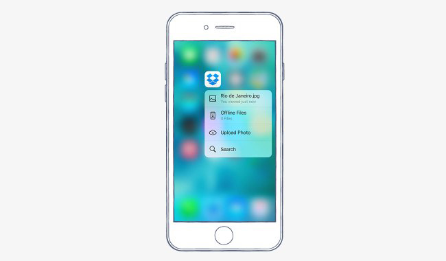 how to use dropbox on iphone 6 plus