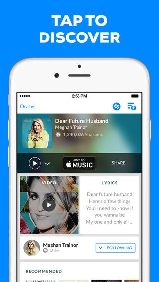 Shazam for iOS.