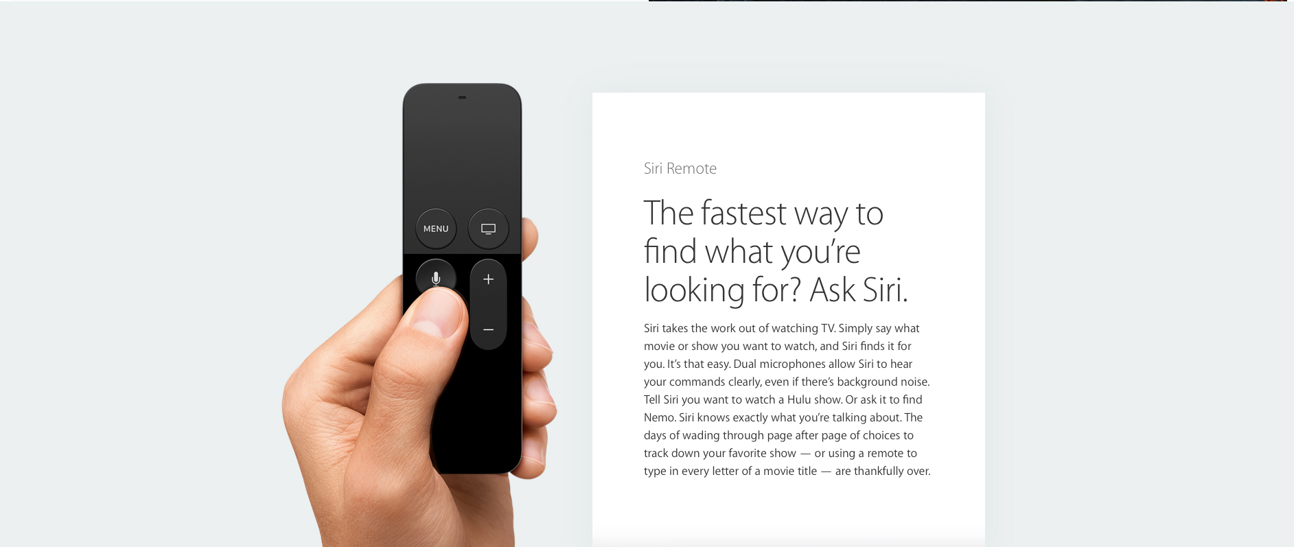 Apple TV's Siri support will be limited to just a few languages and countries