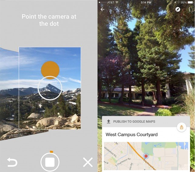 Google's new Street View app allows users to view and create their own photo spheres