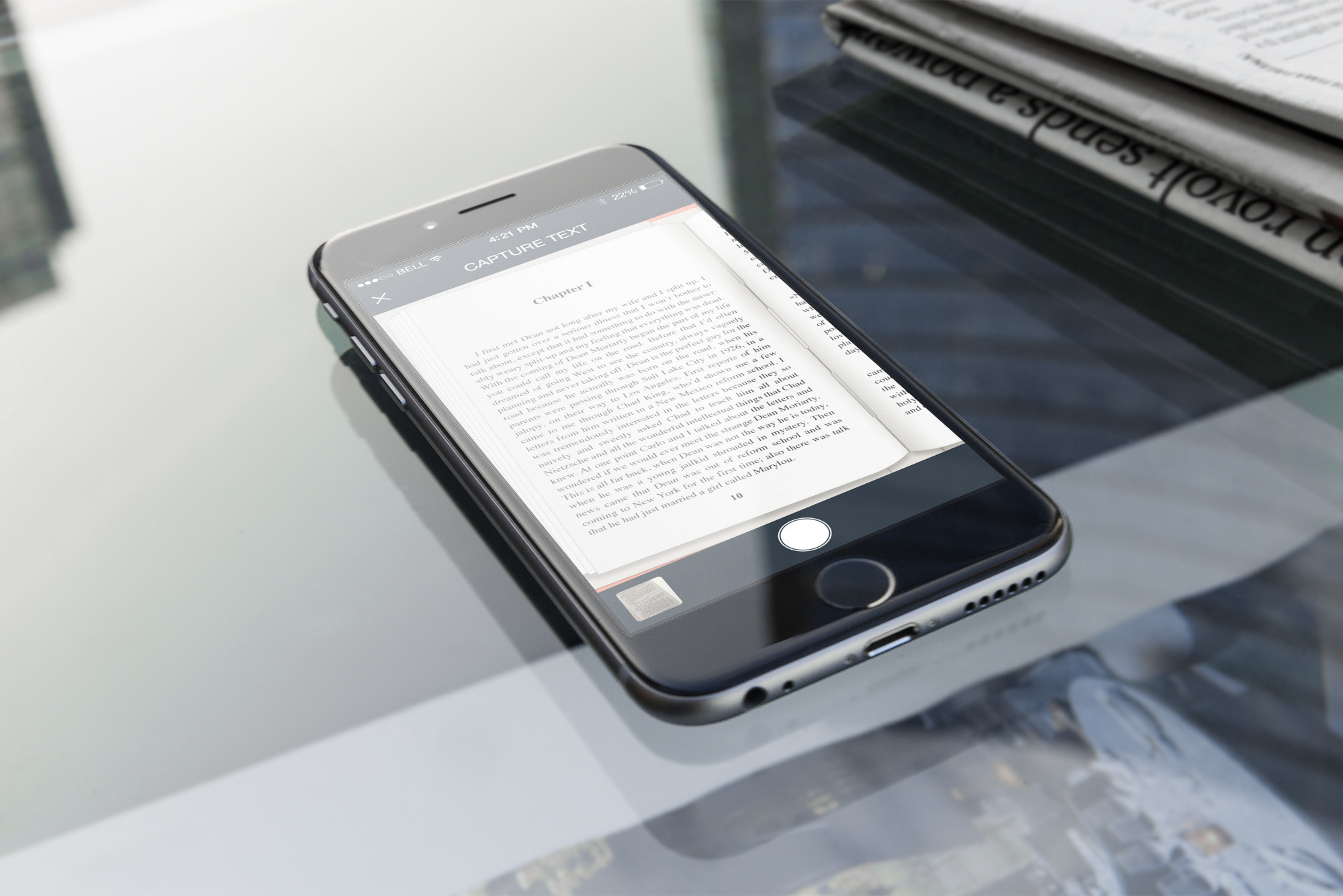 Save and share passages from paper books with Quotle