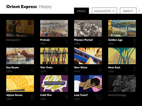 Orient Express History for iPad.
