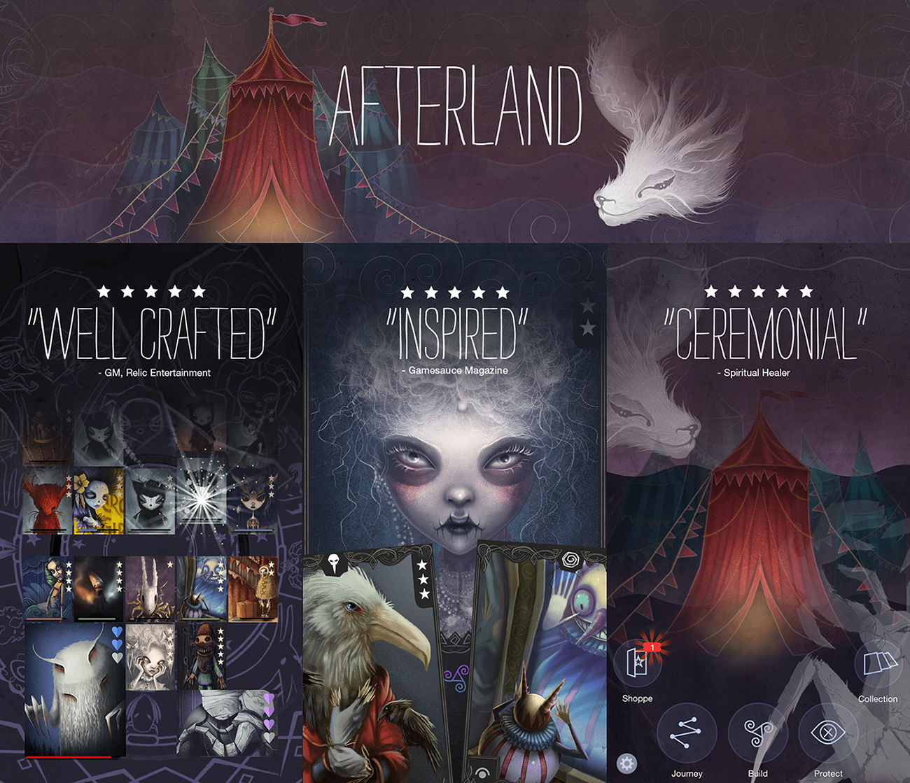 Enter the gothic daydream Afterland, a collectible card game