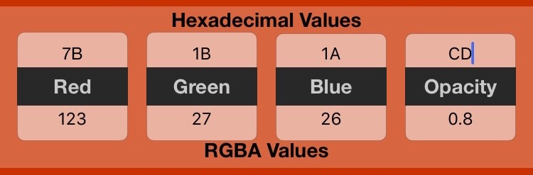 CSS Calculator Hex to RGBA