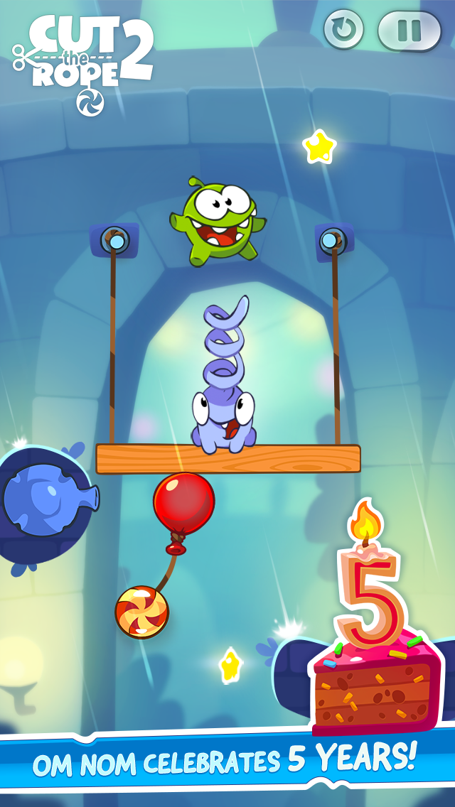 Cut the Rope 5 years