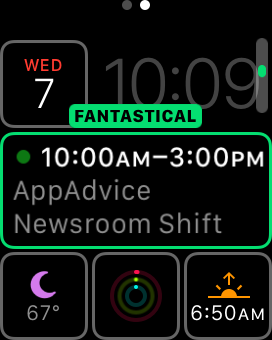 Fantastical 2's Apple Watch complication.