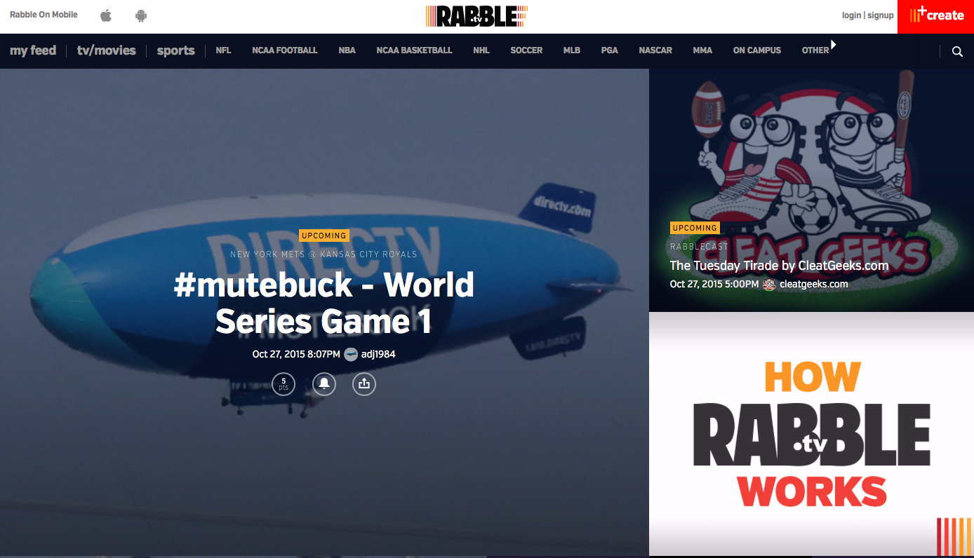 Mute the TV and do your own sports commentary with RabbleTV