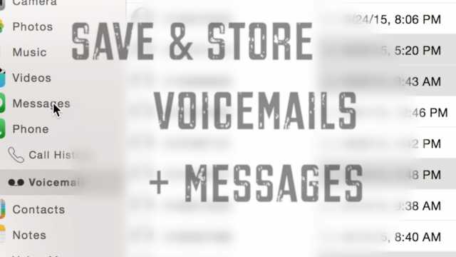 Never lose a voicemail - save and store them on your Mac