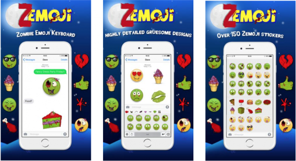 Zombify your iOS device in time for Halloween with Zemoji