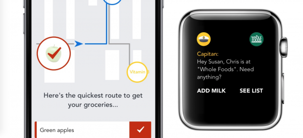 Capitan's shopping list app means you'll never forget an item again
