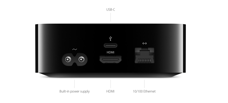 The new Apple TV has a USB-C port.
