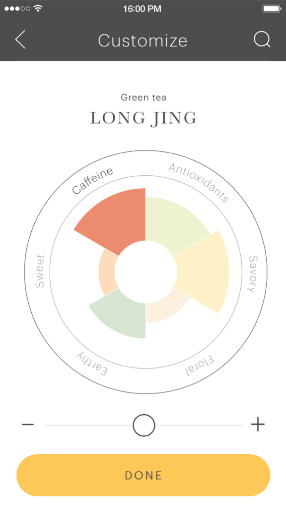 The Teforia iOS app provides detailed insights into your favorite teas.