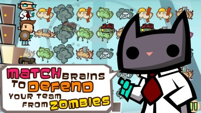 Match to survive a zombie apocalypse in Zombie Match Defense