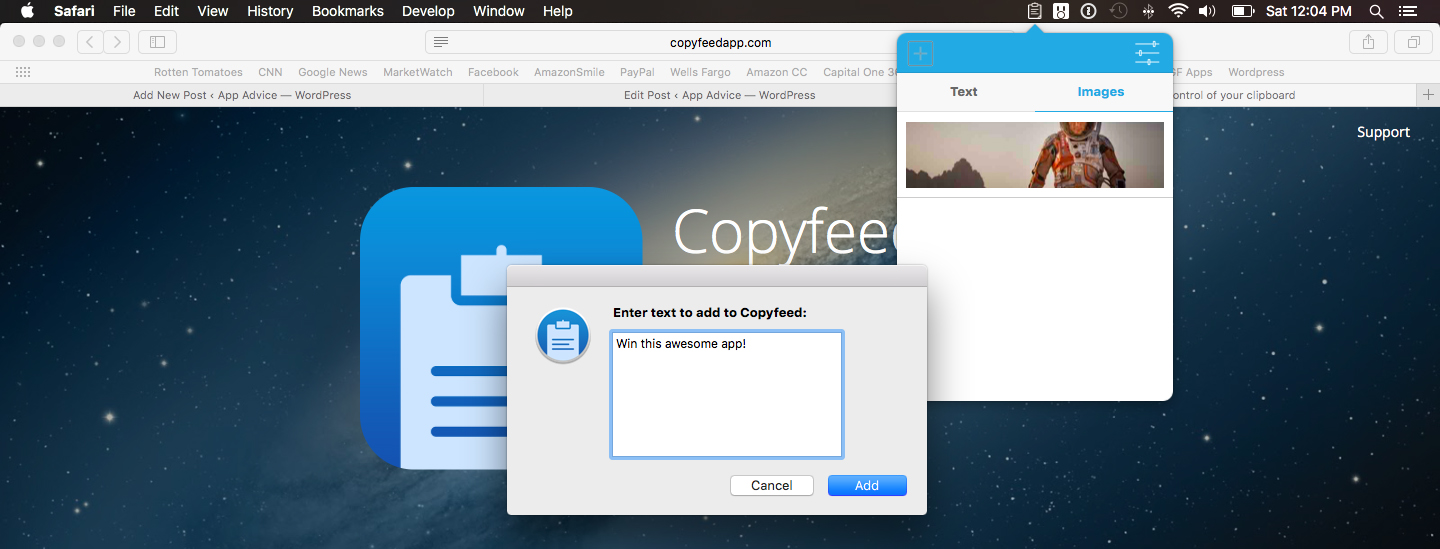Win a copy of Copyfeed and take control of your clipboard