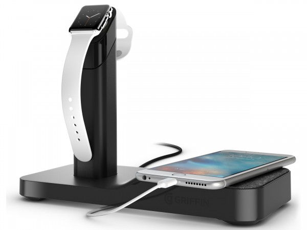 Meet Griffin's latest Apple Watch accessory, the WatchStand Powered Charging Station