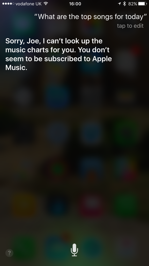 Thanks, Siri.