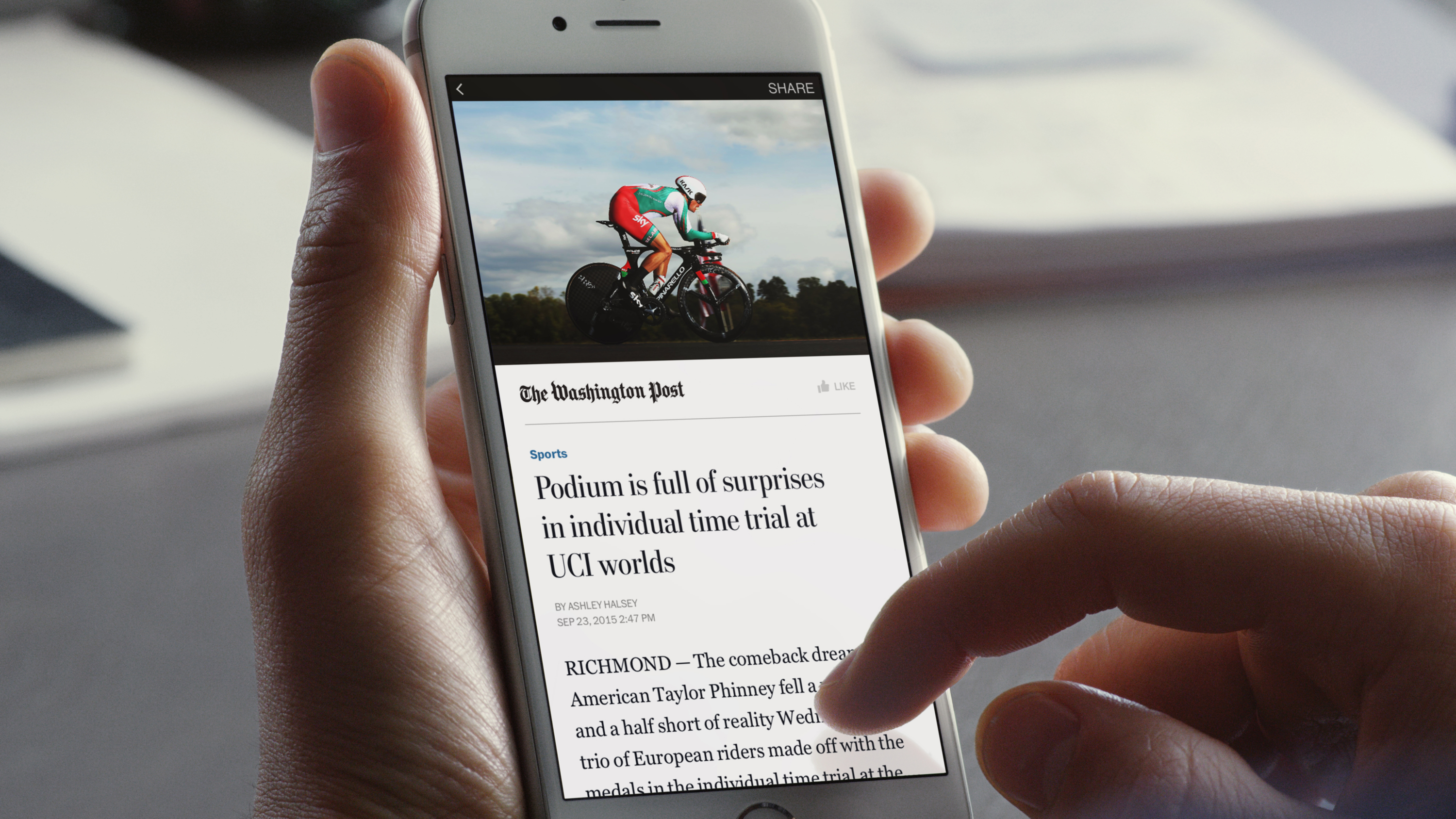 Facebook rolls out the Instant Articles feature to all iPhone app users