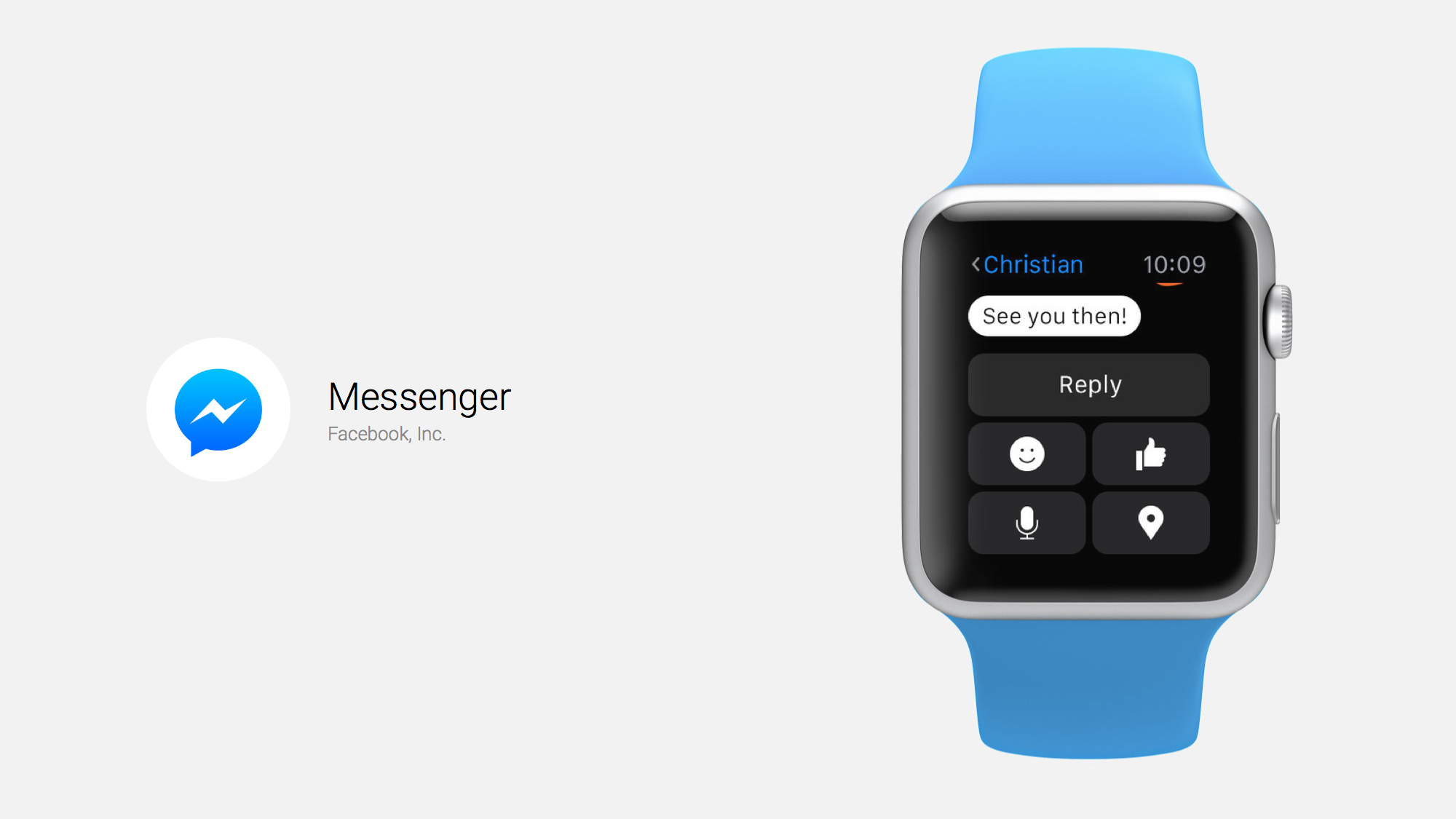 Facebook Messenger lands on the Apple Watch