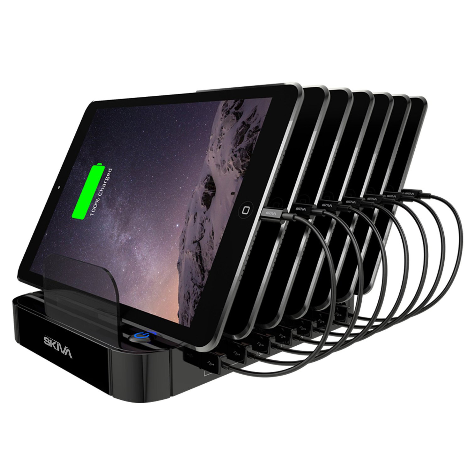Review skiva standcharger 7 port multi usb charging station - Multi chargeur usb ...