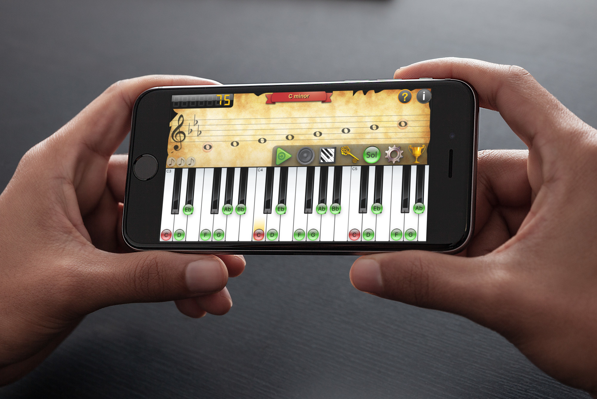 Have fun learning to read music with the game Mozart 2 Pro