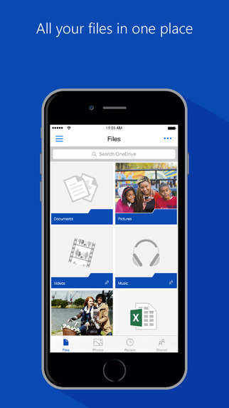 OneDrive for iOS.