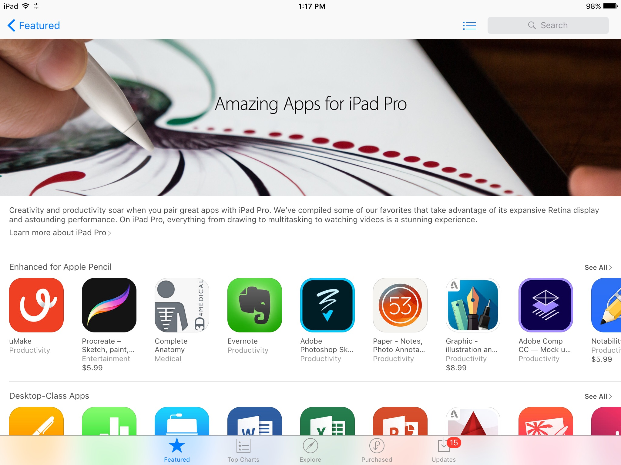 Amazing Apps for iPad Pro
