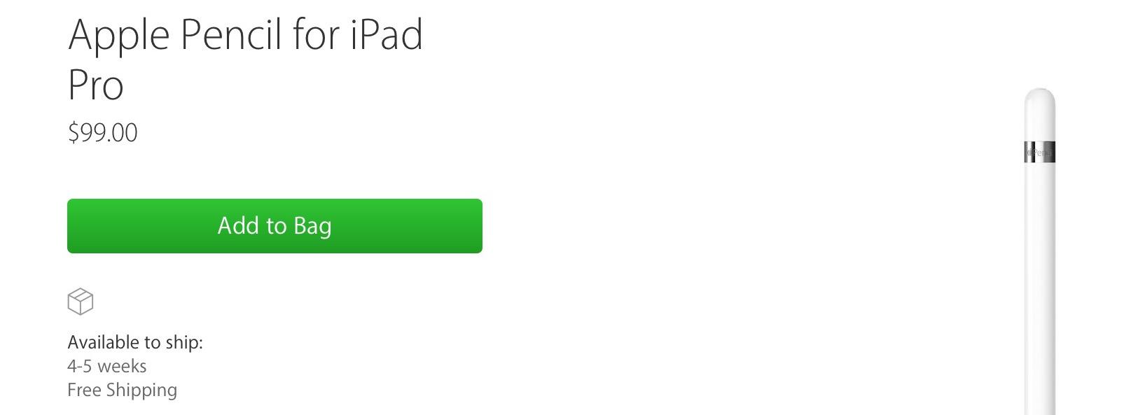 Apple Pencil for iPad Pro - Apple