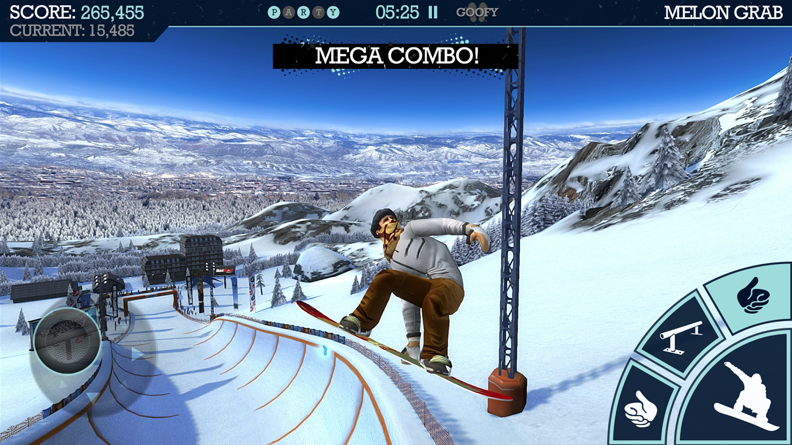 Take to the slopes in the fully-featured Snowboard Party 2 for iOS