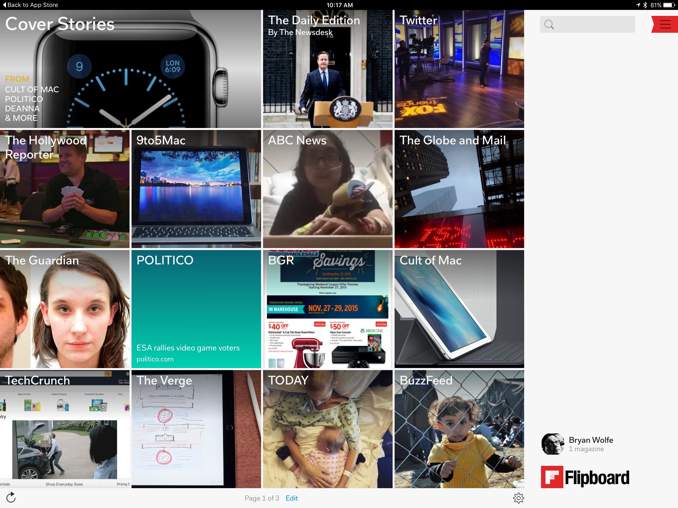 Flipboard iPad Pro
