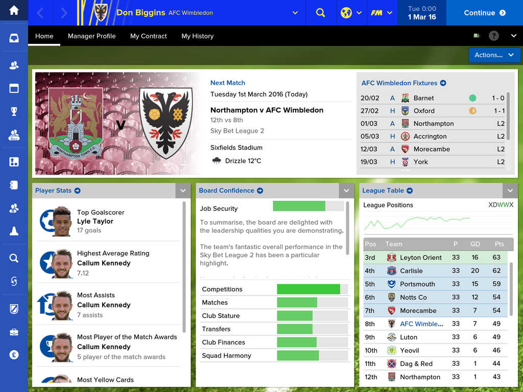 Football Manager Touch 2016 screenshot 2