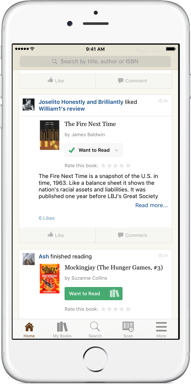 Goodreads home