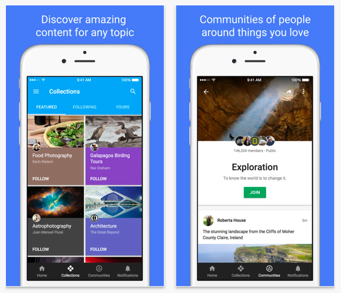 Google+ Communities Collections