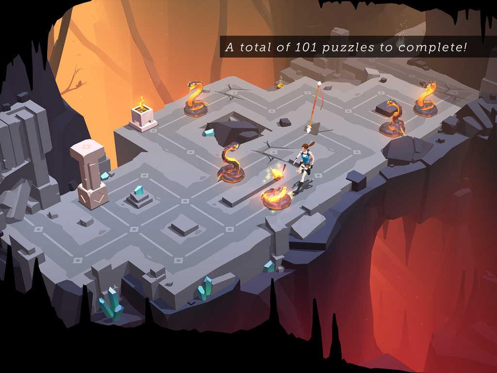 Lara Croft Go 101 puzzles