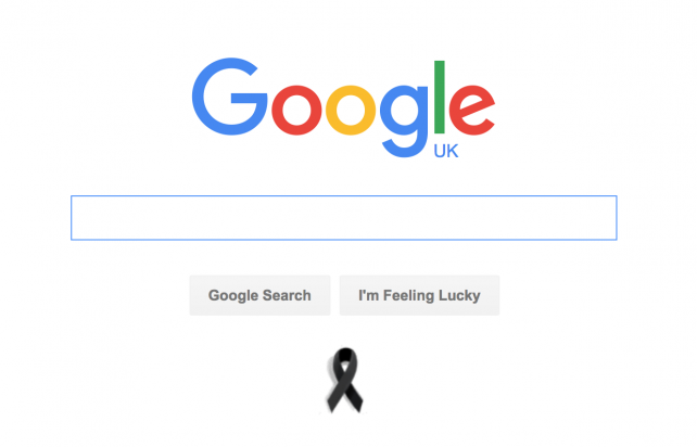 Google's home page.