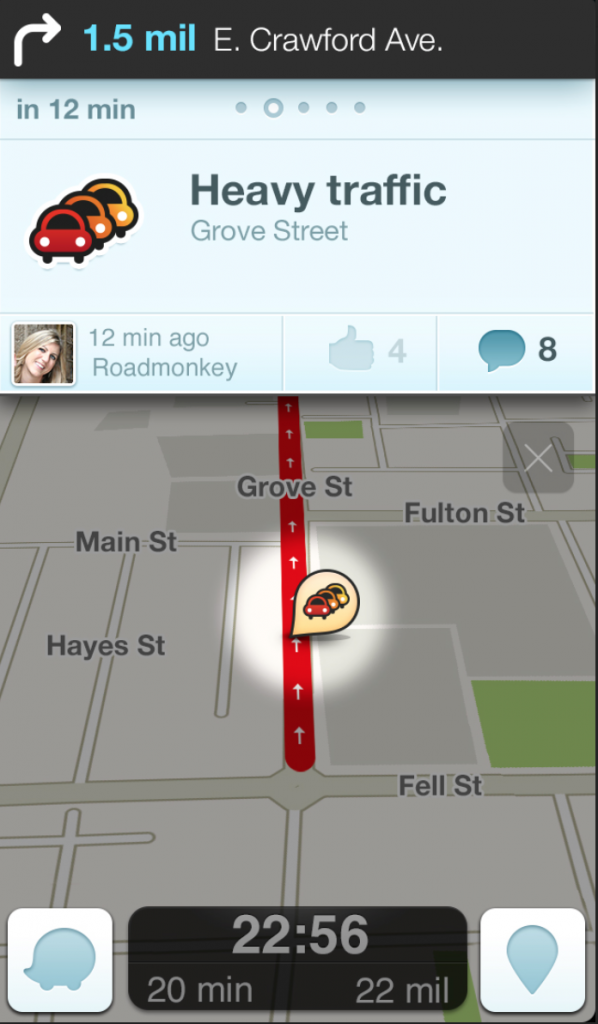 Waze for iOS.