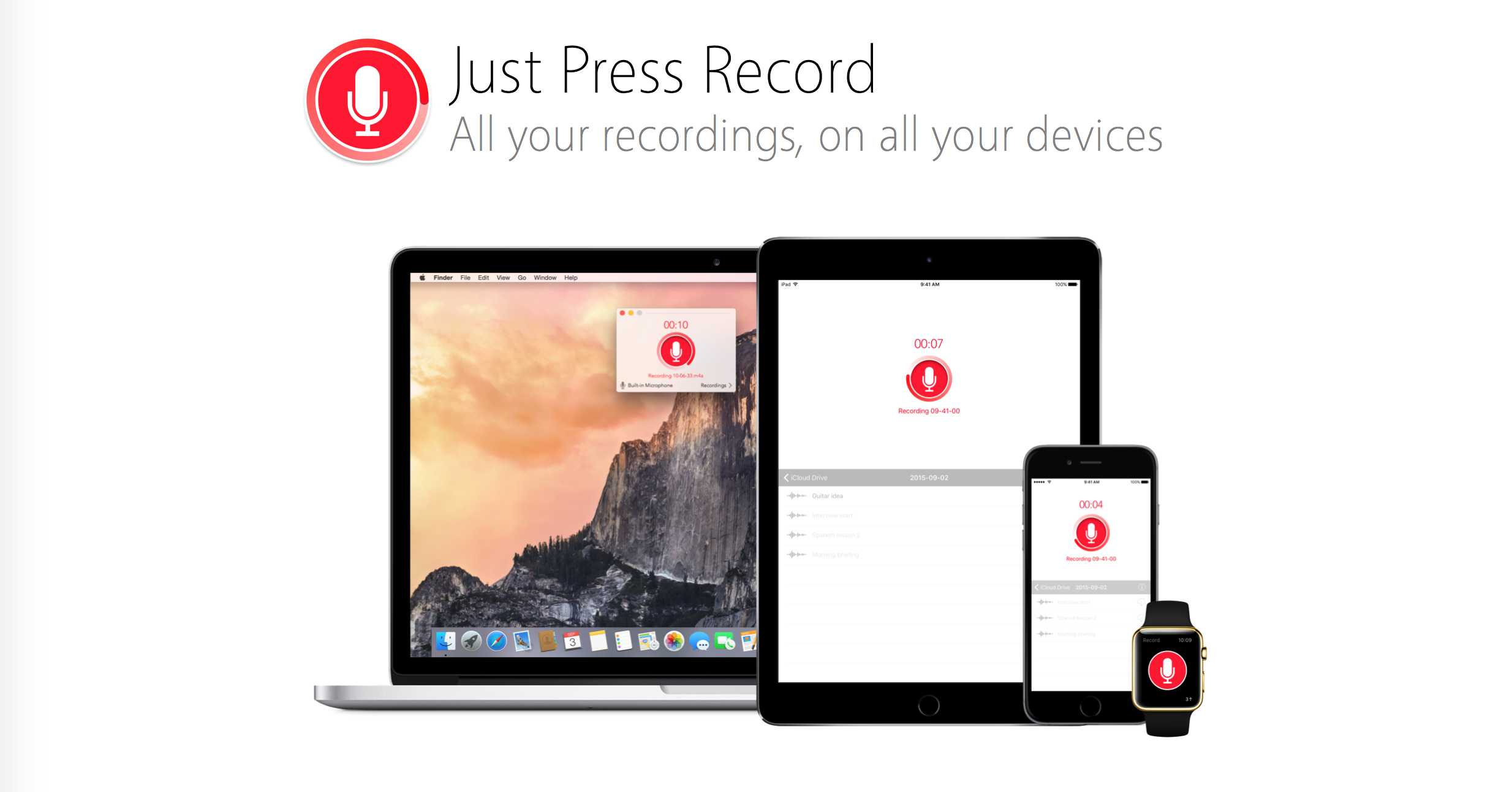 Just Press Record adds 3D Touch support into the voice memo mix