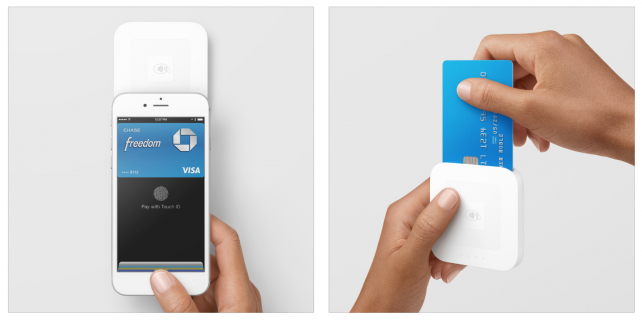 Square's NFC card reader.