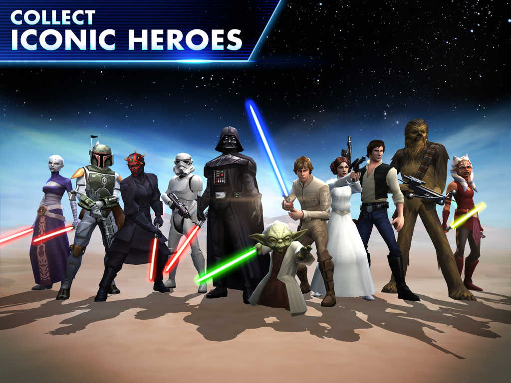 Star Wars- Galaxy of Heroes collect iconic heroes