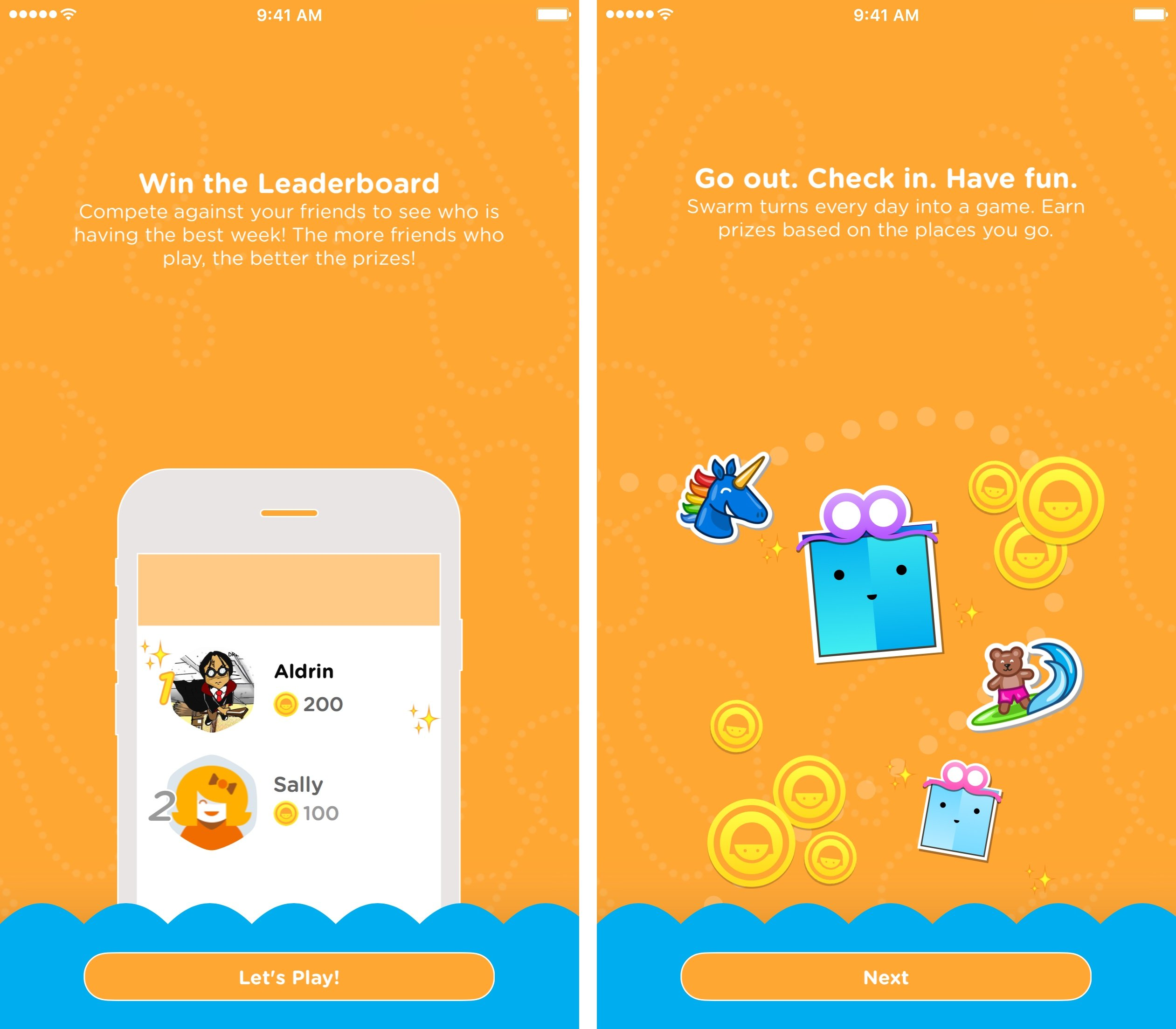 Swarm coins and leaderboards