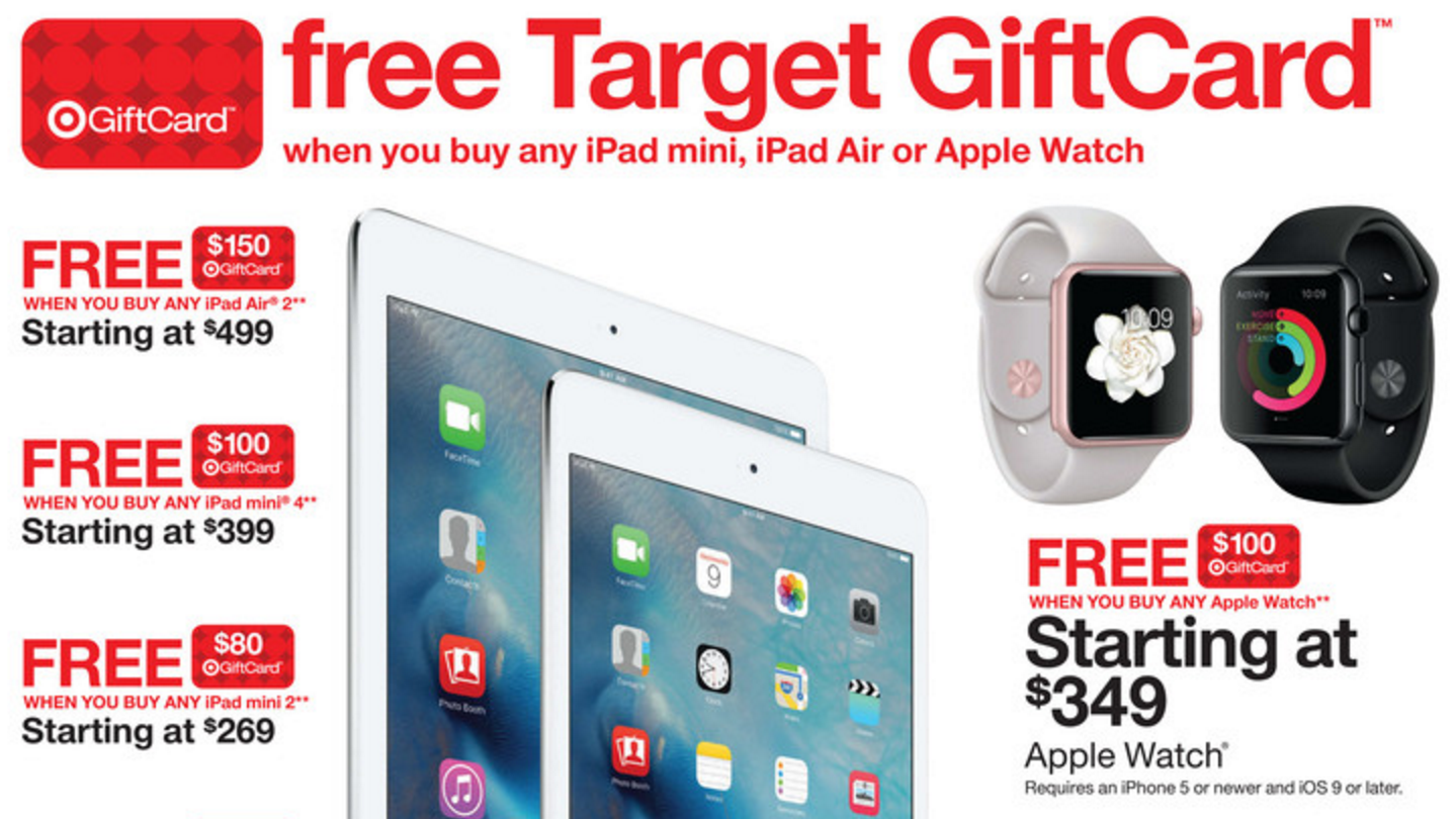 Target will be offering Black Friday deals on select Apple products.